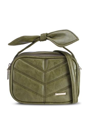 Verchini green Mini Sling Bag With Bow BE1C8AC8E02074GS_1