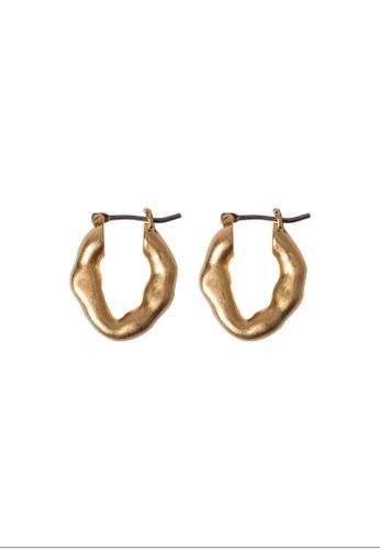 SKEDA gold Llyda Hoop Earrings D1B0AAC6F0B8ACGS_1