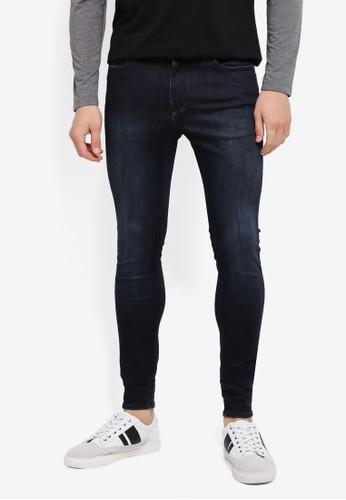 CR7 blue Painted On Skinny Jeans CR532AA0SYI9MY_1