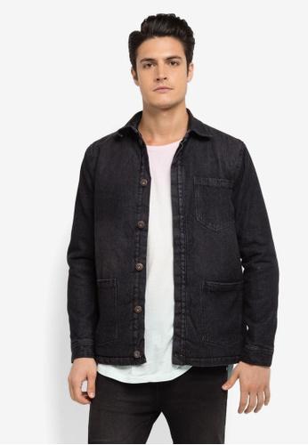 Factorie black Werk Denim Jacket FA880AA0SKIFMY_1