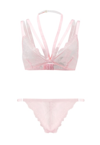 Bluebella pink Alexa Bra and Thong Set DCC39US1F2CDE0GS_1