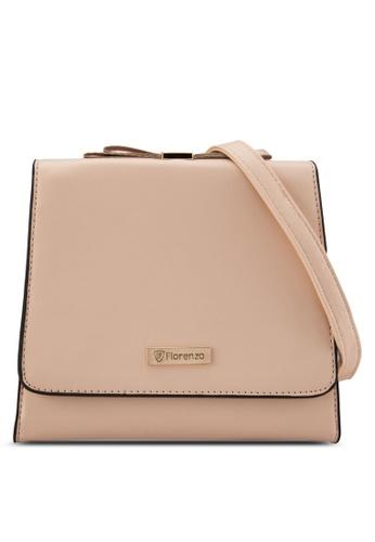 florenzo beige Florenzo Shoulder Flap Bag FL898AC0RUSBMY_1