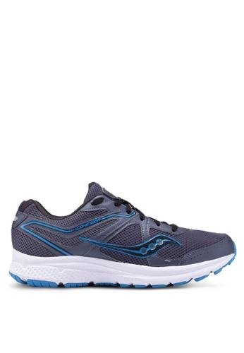 Saucony grey Cohesion 11 Shoes SA304SH0SW5CMY_1