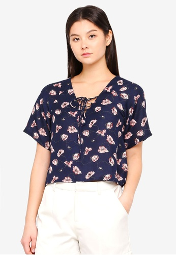Something Borrowed navy Relaxed Boxy Top 929B2AAE7A125BGS_1