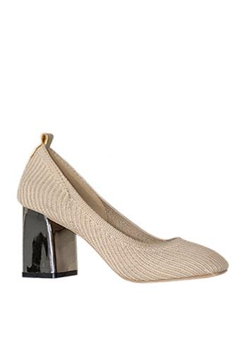 Twenty Eight Shoes beige Trendy Knitted Fabric Heels VL880 E1AE9SH46385DBGS_1