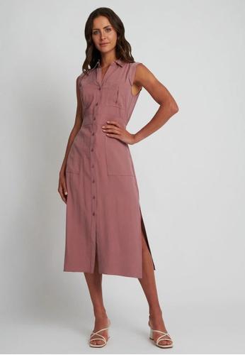 FORCAST pink FORCAST Jasmin Utility Dress 09F68AA5BDA1B2GS_1