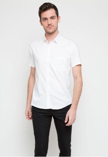 RICCIMAN white Ricciman Slim Fit Lengan Pendek White 0DAC7AACAF7E43GS_1