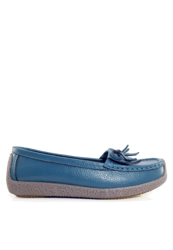 Twenty Eight Shoes blue Comfortable Tassel Leather Loafer VC1571 863A7SHFA22BE9GS_1