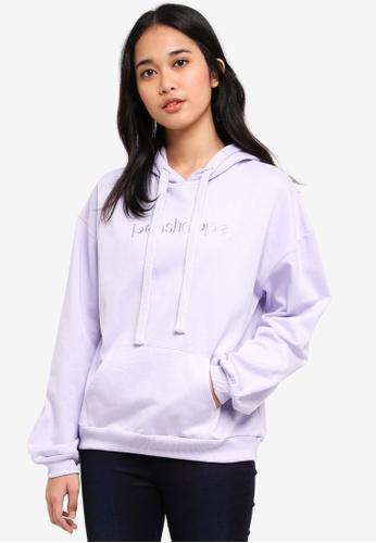 Penshoppe purple Fleece Hoodie 5C8F4AA2212D7EGS_1