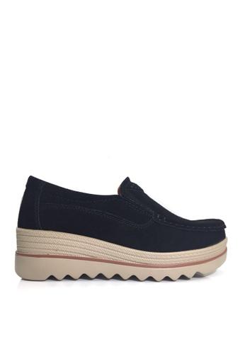 Twenty Eight Shoes 黑色 牛反絨車線輕便鞋 VC3088 FA225SH25F1A95GS_1