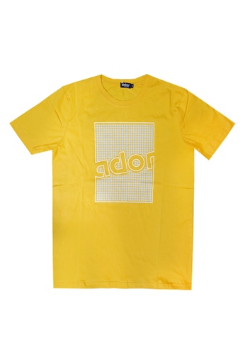 Ador yellow CS8115 - Ador sportstyle t-shirt D3B57AAD7B47BAGS_1