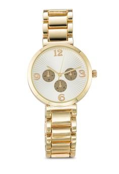 【ZALORA】 圓框計時鍊錶