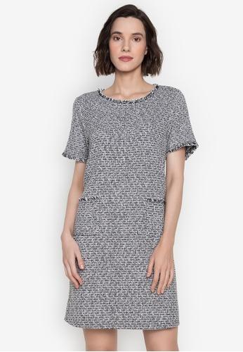 CIGNAL multi Tweed A-Line Dress with Pocket 6EB97AA1CCFE73GS_1
