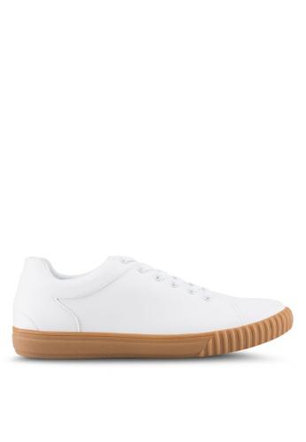 ZALORA white Trainers in Gum Sole 8DE8FSH7B14845GS_1