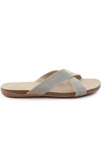 Shu Talk silver Elegant Nappa Leather Sandals SH617SH2USDKHK_1