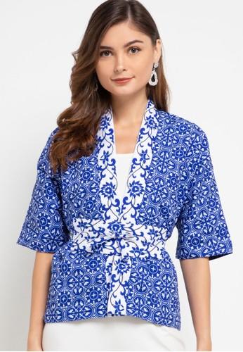 Ans.Ein blue Peranakan Blu Kimono Cardigan 8A746AAE0CB369GS_1