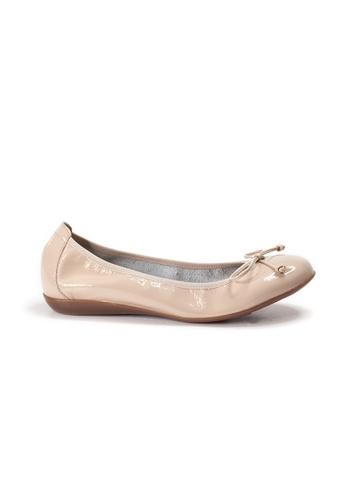 Shu Talk beige WONDERS BOW BOW Comfy Ballerina Ballet Flats 95CDFSHDD670F8GS_1