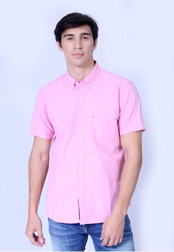 Osella pink baju pria Kemeja Lengan Pendek Pink C1EE7AA4BCC9C6GS 1 6d6696725c
