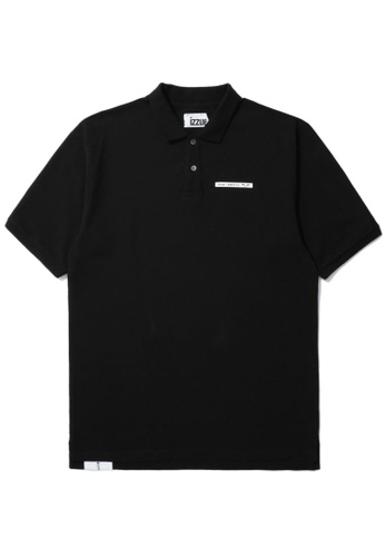 izzue black True Identity polo shirt 7BF77AAA829A2EGS_1