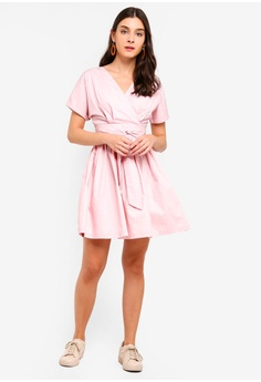 6a32dcf9ae6 30% OFF ZALORA Wrap Front Fit And Flare Dress S  39.90 NOW S  27.90 Sizes  XS S M L XL