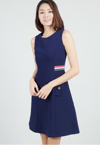 Moss Fashion navy Felisha Dress in Navy AE722AACA3E664GS_1
