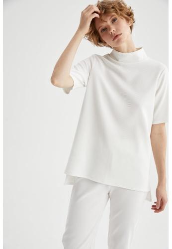 DeFacto white Short Sleeve Blouse 882AEAA3724CC7GS_1
