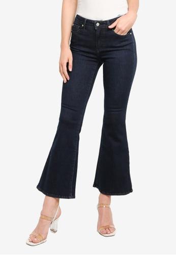 Guess blue Guess Cropped Flare Denim Jeans 2A77DAA78A7D9CGS_1