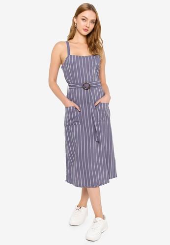 Brave Soul blue Self Fabric Belt Dress ED459AAC406789GS_1