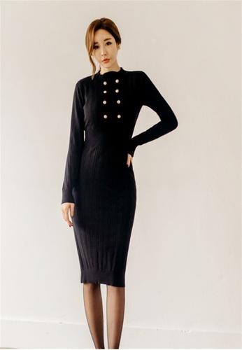 Crystal Korea Fashion black New Slim Dress CR681AA2W1IWHK_1