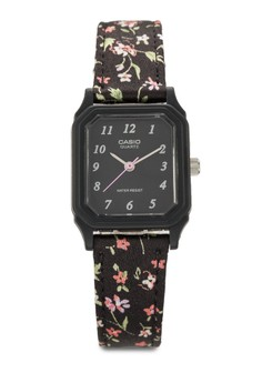 【ZALORA】 LQ-142LB-1BDF 印花錶帶方框手錶