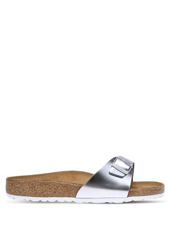 Birkenstock silver Madrid Sandals BI090SH0RCOHMY_1