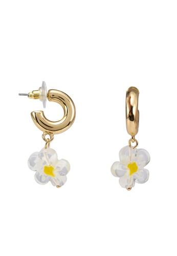 Mango gold Hoop Flower Earrings 3A317ACFAFBC32GS_1