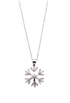 3ff318af34 Elitrend silver Snowflake Pendant Korean Dainty Short Necklace in Silver  21536AC89CAD25GS 1