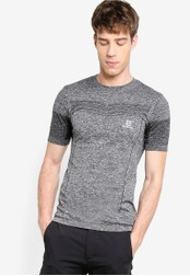 Salomon grey Pulse Seamless Tee SA438AA78WEZMY_1