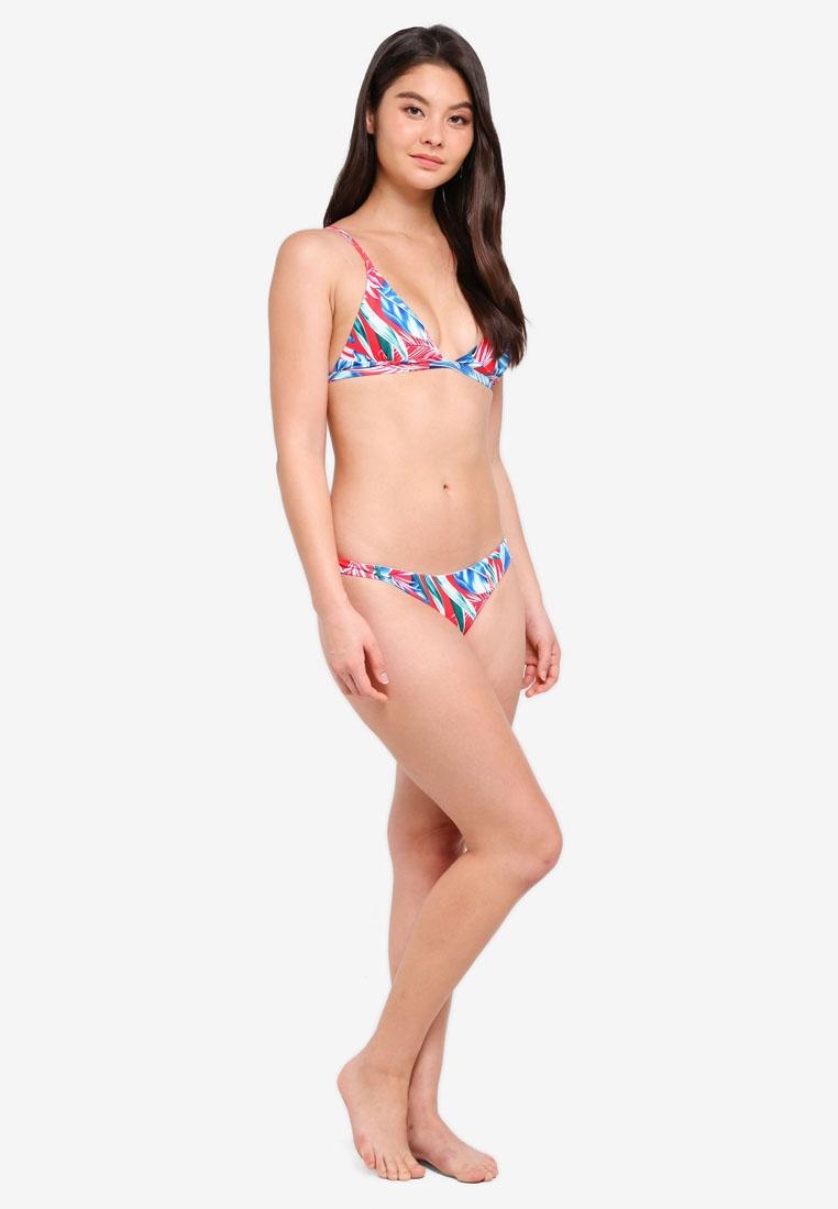 Floral Beachwear Bikini Triangle Set Red Holly Malibu qUxwPf