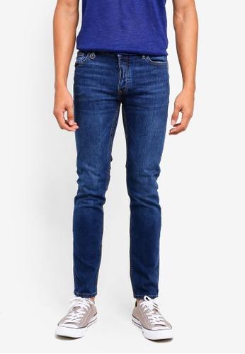 MANGO Man blue Slim-Fit Faded Dark Wash Tim Jeans 88A14AA38513A7GS_1