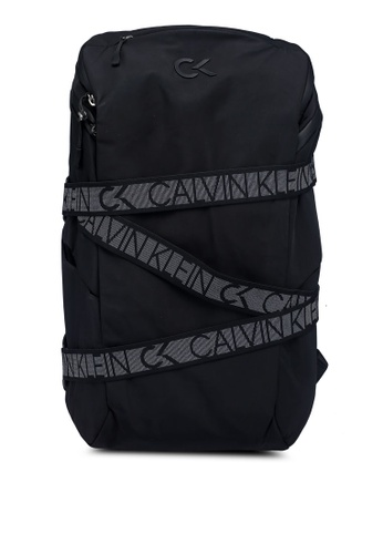 Calvin Klein black 45 Square Backpack AC490AC5CFBE5AGS_1