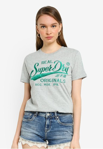 Superdry grey Ro Piping Entry Tee D7433AA5901DCAGS_1