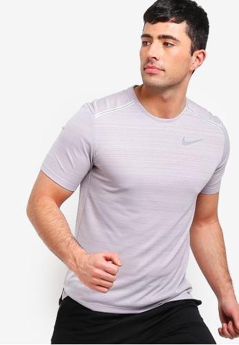 a7cc01b6 Nike grey As Men's Nike Dry Miler Short Sleeves Top 7F376AAE82E7AFGS_1