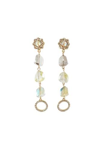 La Miina gold Gautier Dangling Earrings 9E4B4ACEBEC6DFGS_1