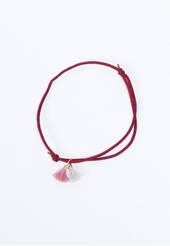 雙色流蘇腳繩, 飾品配件, 手鐲 &amesprit 門市p; 手環