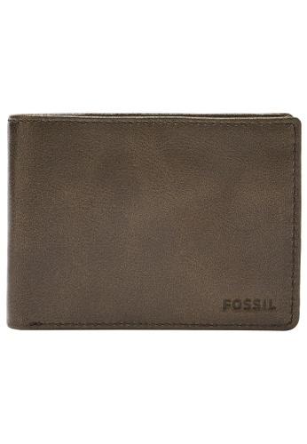 Fossil green Mykel Wallet SML1801386 31167AC52CC1E0GS_1