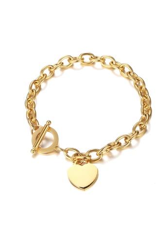 CELOVIS gold CELOVIS - Adora Heart Tag Pendant Bracelet in Gold 8E8D8ACF23350AGS_1