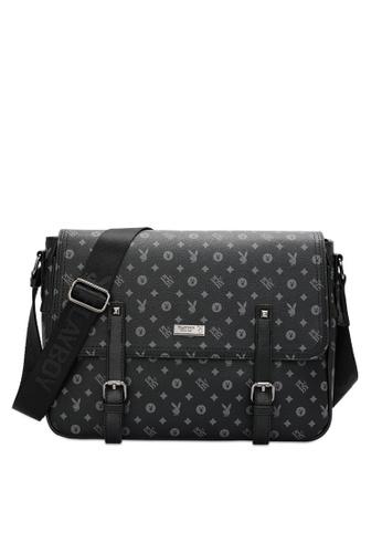 Playboy black Men's Sling Bag / Chest Bag / Crossbody Bag 35AC6ACA848739GS_1