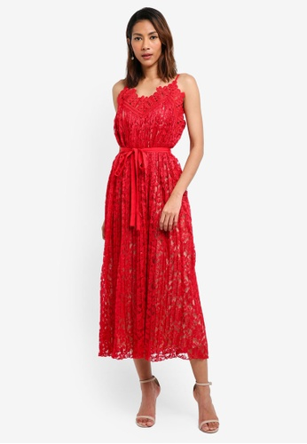 3a4d7a3e662 Little Mistress red Cayenne Lace Dress ED125AAF970EDFGS 1
