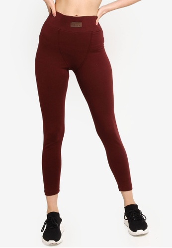 MISSGUIDED red Msgd Full Length Leggings 6757FAA67CC242GS_1