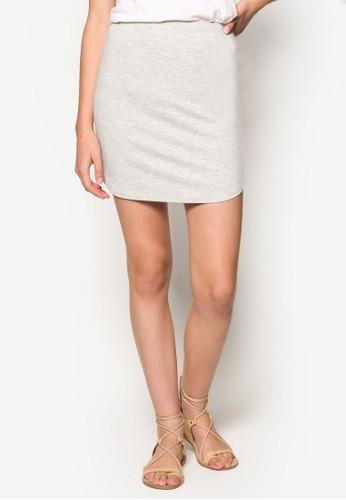 Kn esprit 床上用品Finley 條紋迷你短裙, 服飾, 裙子