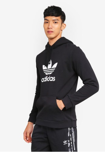 adidas black adidas originals trefoil hoodie C9948AA48A19A9GS_1