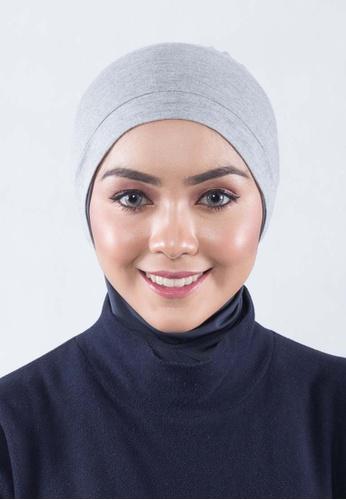 819032ab58686c EDZ grey Audrey Snow Cap Inner Hijab - Armor Grey ED756AA25JUKMY 1