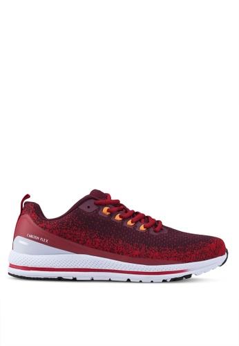Carlton London 紅色 蕾絲 Up 運動鞋 860EFSHA7B7EC1GS_1